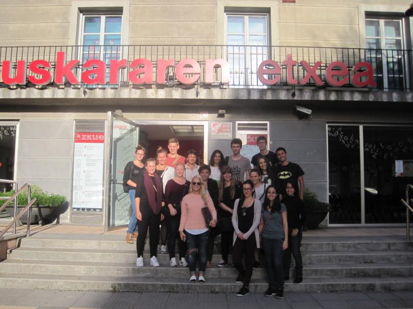 Deustuko Unibertsitateko Erasmus taldea