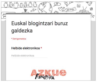 euskarazko blogintzaren inguruko inkesta