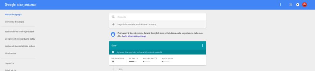 google-nire-jarduerak