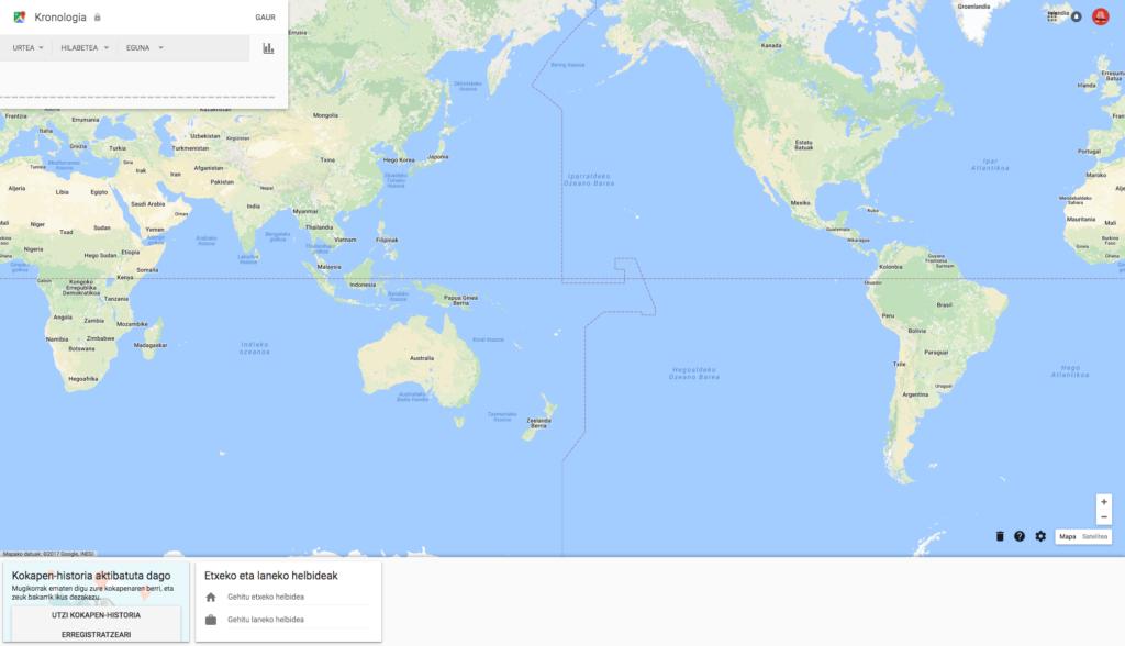 GoogleMaps-Kokapen historia