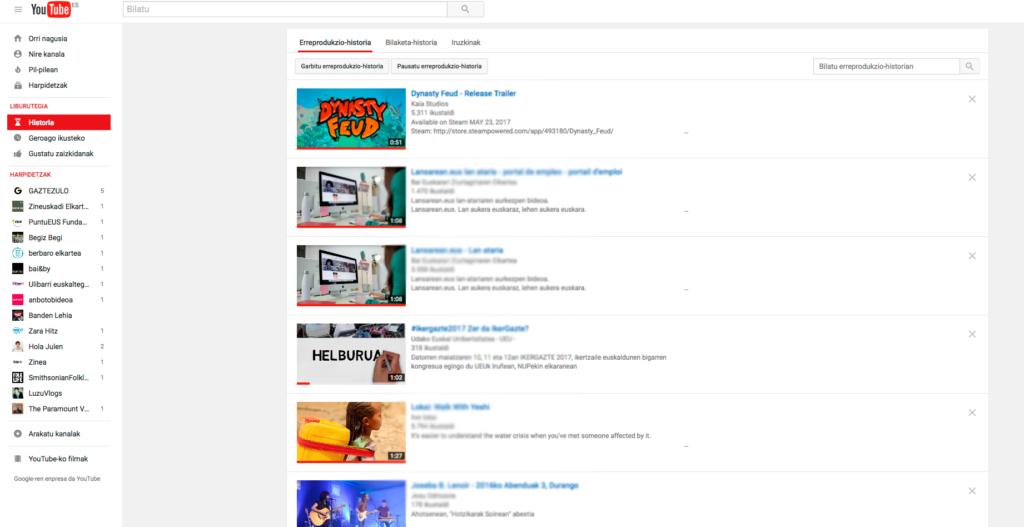 Youtubeko-historia