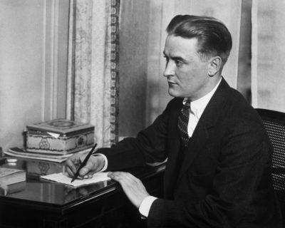 Original Caption: Portrait of Francis Scott Fitzgerald (1890-1940), American fiction writer.  Photo.