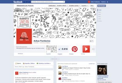 Azkue Fundazioaren Facebookeko orriaren irudi berria