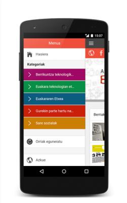 Azkue Fundazioaren Egunkaria blogaren aplikazioa - irudia 2