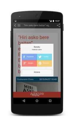Azkue Fundazioaren Egunkaria blogaren aplikazioa - irudia 4