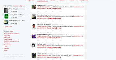 Banden Lehiako bozketan parte hartzea Twitterren