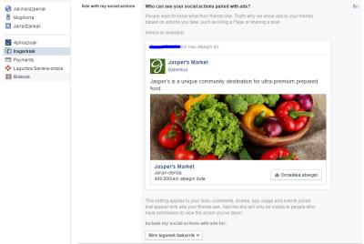Facebook-Iragarkiak