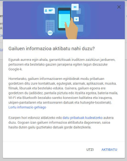 Google-GailuenInformazioa