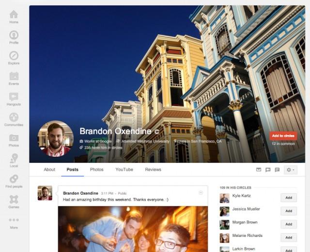 Google + itxura berria