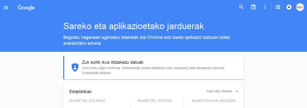 GoogleWebguneAplikazioak-Bilaketak