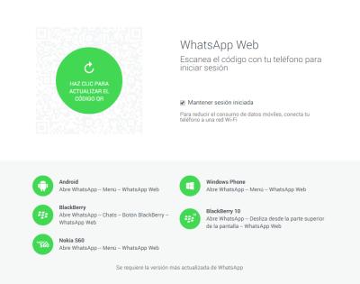 WhatsApp-ordenagailuan