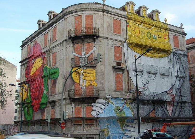 Lisboa, Portugal. Os Gémeos & BLU: http://www.osgemeos.com.br/