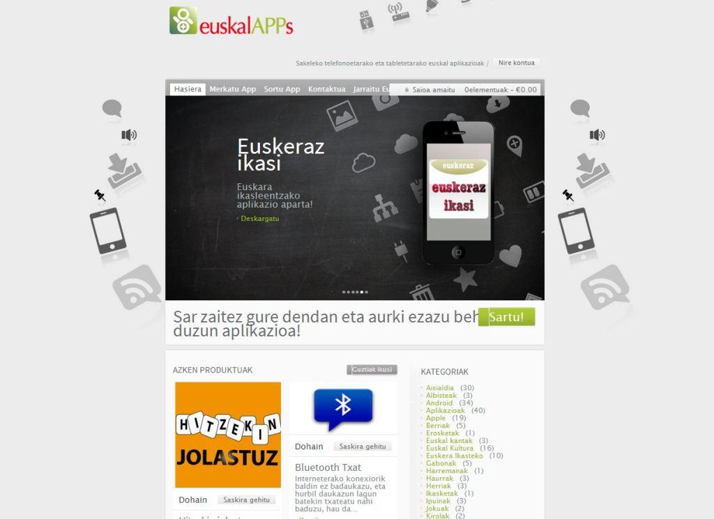 EuskalApp webgunea