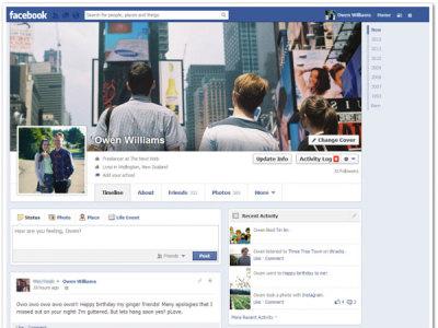 Facebook-eko timeline berria